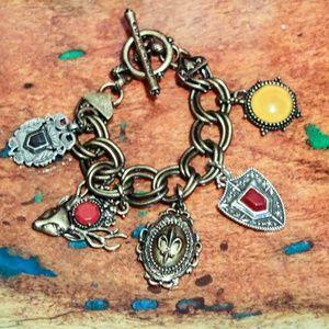 Lucky Brand Retired Charm Bracelet